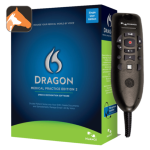 Dragon Medical Practice Edition 2 Veterinary with PowerMicIII