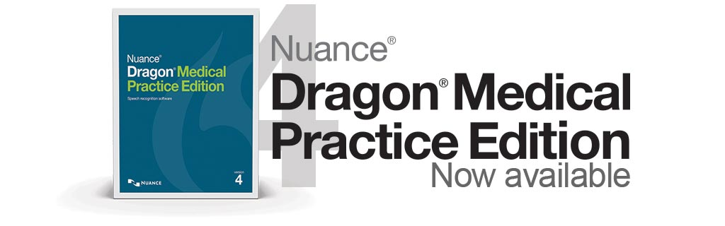 Dragon Medical Practice Edition 4 Homepage Banner